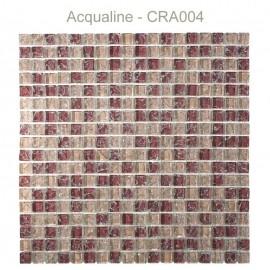 MOSAIQUE BORDEAUX / ROSE D'AUTREFOIS CRAQUELEE