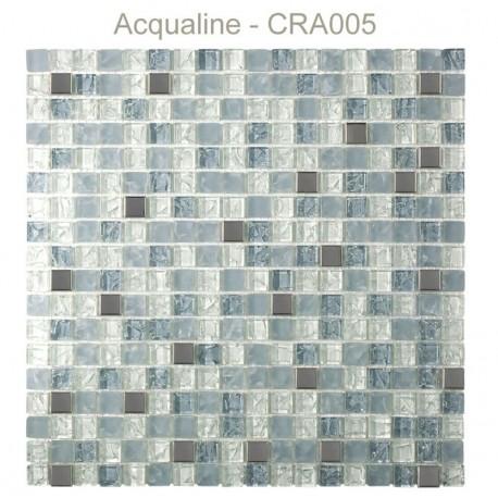 MOSAIQUE BLANC / GRIS / ALU CRAQUELEE
