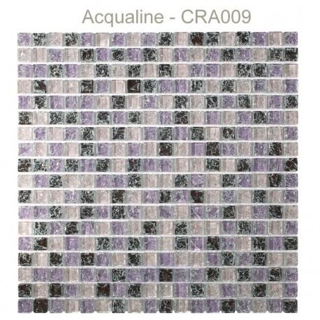 MOSAIQUE PARME / ROSE / BORDEAUX CRAQUELEE