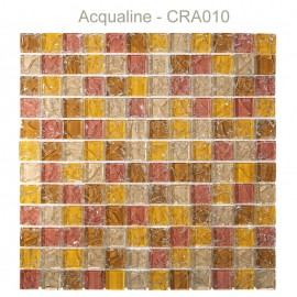 MOSAIQUE ORANGE / ROSE CRAQUELEE