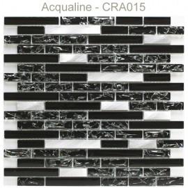MOSAIQUE NOIR / ALU RECTANGULAIRE CRAQUELEE