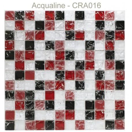 MOSAIQUE NOIR / ROUGE / BLANC CRAQUELEE