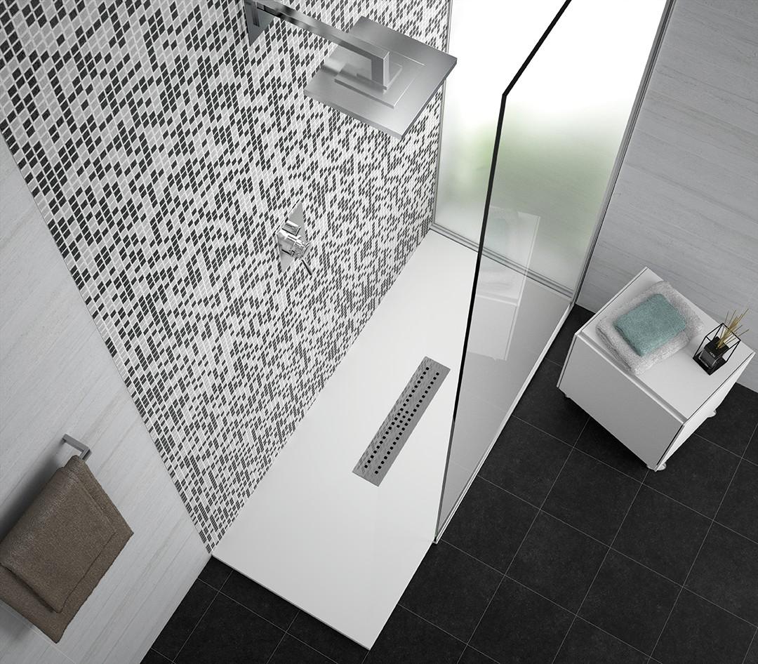 Bac à douche FOCUS |Salle de bains PAS CHER