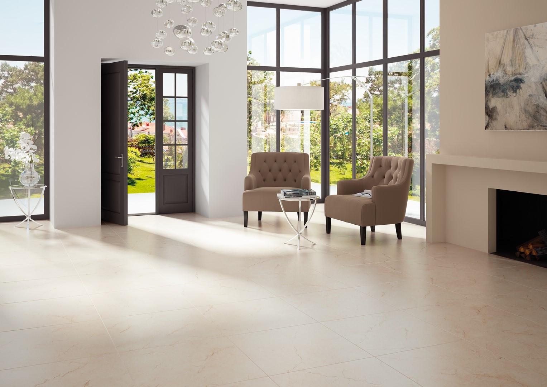 Carrelage effet marbre 60x60 beige mat cimit | RUE DU CARRELAGE