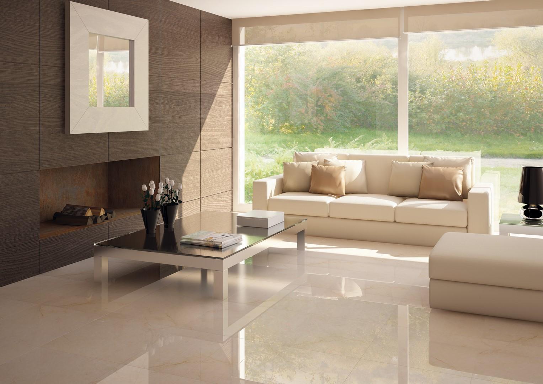 Carrelage 60x60 effet marbre beige brillant cimit | RUE DU CARRELAGE