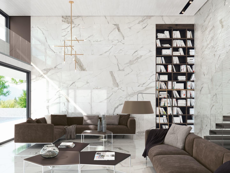 Carrelage 60x120 effet marbre brillant | RUE DU CARRELAGE