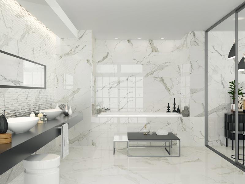 Carrelage Blanc Brillant 30x60 CISTA