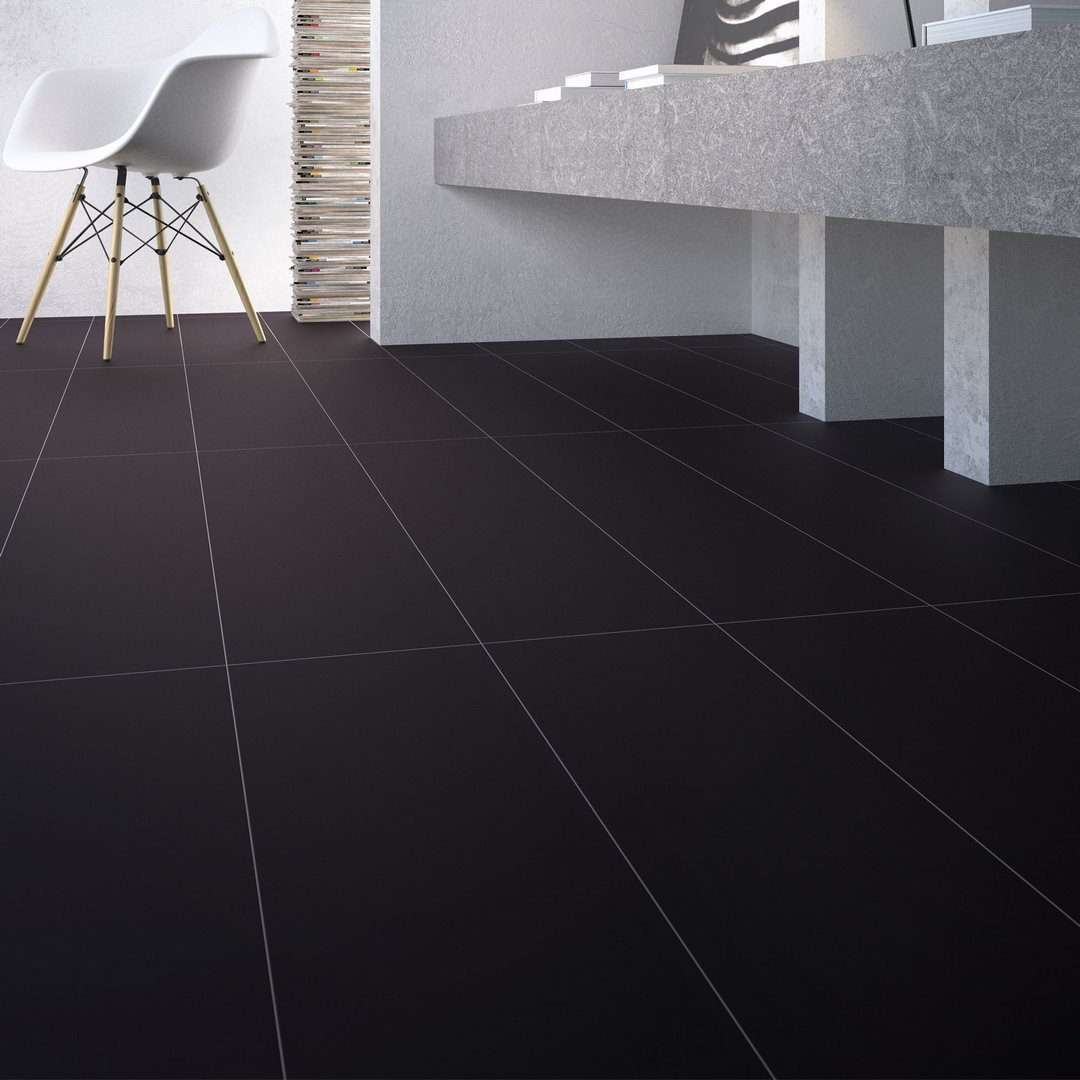 Carrelage X Noir Lappato Smooth RUE DU CARRELAGE - Carrelage lappato